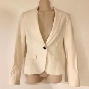 H&M Off White Blazer Jacket Sz 2 - NWT!